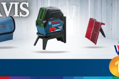 Niveau laser Bosch pro Vert en Croix GCL 2-15 G  ✅  Avis et Test