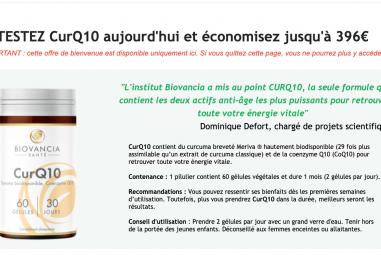 Avis et test du Curq10 de Biovancia : Est-il fiable ?