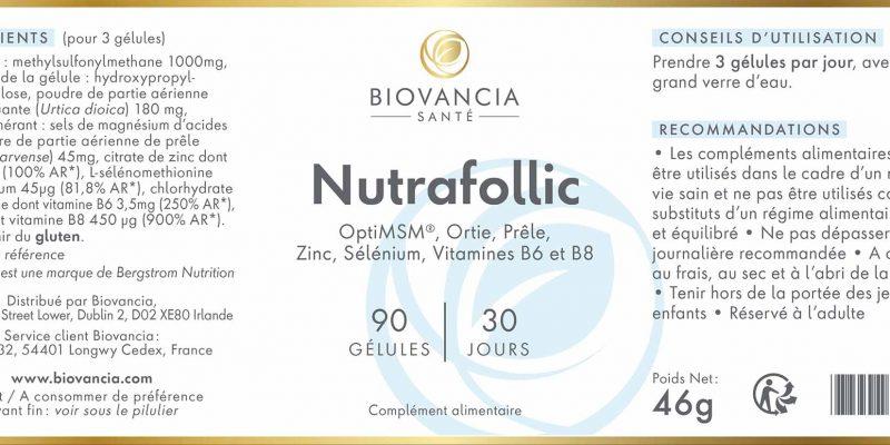Avis et test du Nutrafollic de Biovancia